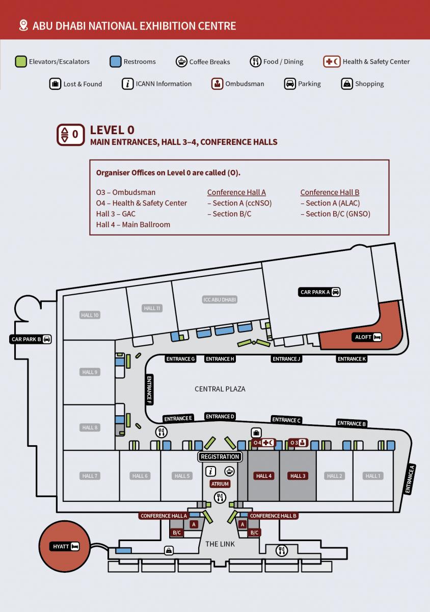 ICANN60 | Abu Dhabi: Venue & Area Map