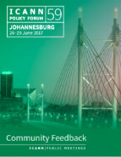ICANN59 Community Feedback